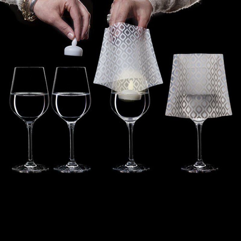 Collapsible Plastic Wine Glass Shades, Home Wine Glass Shades, Decorative Wine  Glass Lampshades  FenDa Pack